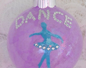 Purple Dance Ornament, Dance Ornament, Ballerina Ornament, Ballet Ornament, Dancer Ornament, Dance Teacher Gift, Dance Gift, Coach Gift