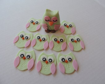 Fondant Owl Cake and Cupcake Toppers - Deluxe Package