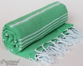 Peshtemal Beach Towel Mint Green