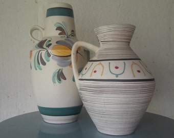 West germany Scheurich 279 38, w germany Carstens 1510 29, floor vase, midentury vase, graphic design, w germany 60s, west germany rare