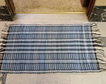 Upcycled denim rag rug