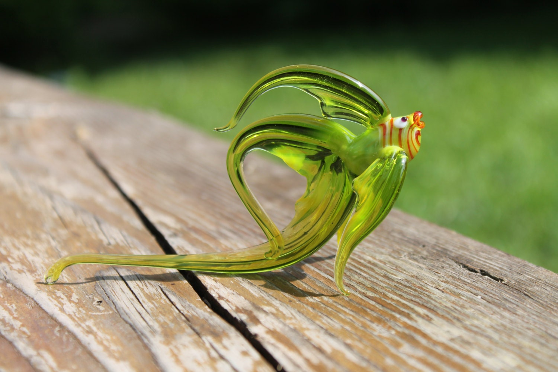 Glass fish hand blown collectible figurine art glass blown for Blown glass fish