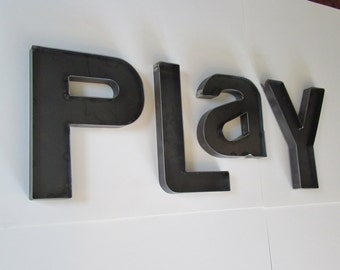 Playroom letters etsy for Party wall act letter to neighbour