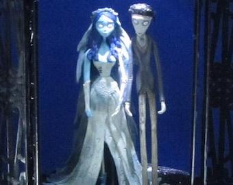 Lighted Corpse Bride Wedding Cake Topper