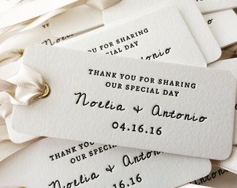 Personalised Letterpress Favour Tags / Labels