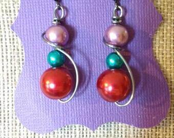 Multi color earrings