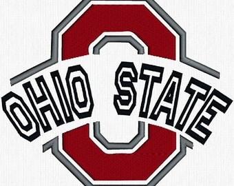 Machine Embroidery Design - Ohio State Logo & Buckeyes - Big Ten