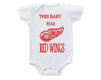 Detroit Red wings baby bodysuit