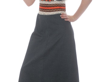 Boho Chic Me Prairie Cotton Maxi Dress