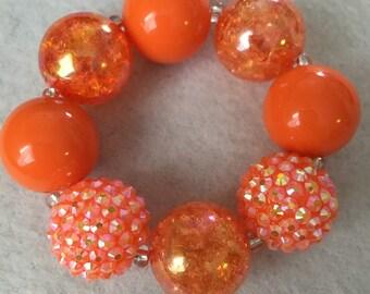 Toddle Size - orange Chunky bracelet