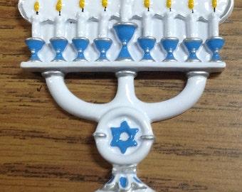 Menorah Personalized Ornament