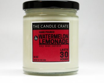Watermelon Lemonade 8 Ounce Soy Wax Candle