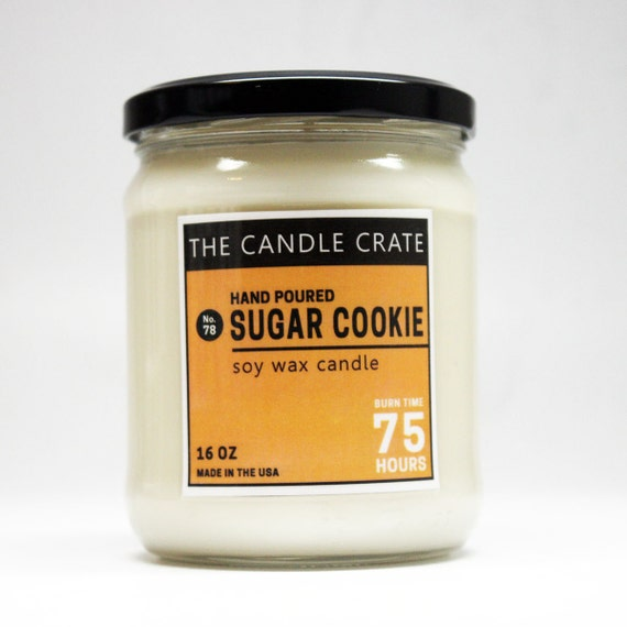 Cookie Wax Platinum: Sugar Cookie 16 Ounce Soy Wax Candle By TheCandleCrate On Etsy