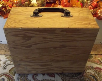 Old Wooden Storage Box, Salvaged Projector Box.