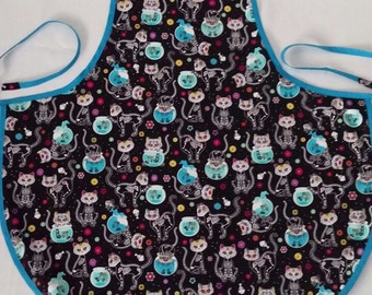 Skeleton Cats full size apron