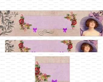 Shop Icon Vintage Purple  DIY Etsy Banner Cover French Blank Shop Store Pink Avatar Set Of Graphic Flowers Instant Digital Downlo