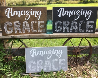 Amazing Grace Sign, old hymn gift