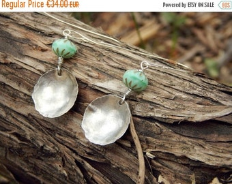 ON SALE PROMOTIONS Earrings Sterling silver earrings , chic , simple, glass beads, handmade , Chic and simple
