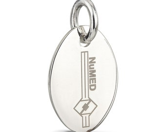 Argentium Sterling Silver Oval Jewelry Tag