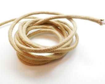 1 meter braided baker's cord, blond, 6 mm