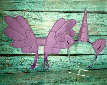 Sparkle Pony Pegasus Unicorn Wings, Horn & Ears Costume Dress Up Set
