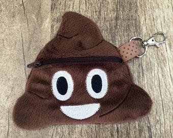 Poo Poop Emoji Coin Purse Zipper Pouch