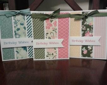 Handmade birthday wishes greeting card