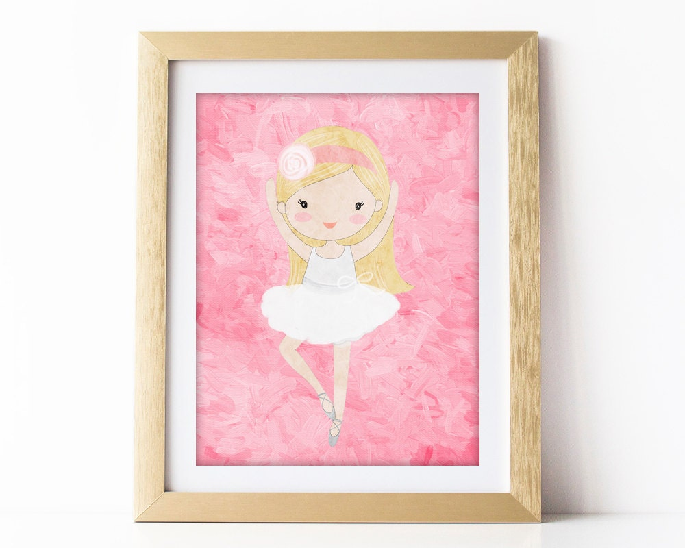 Ballerina wall art ballerina painting ballerina nursery art for Room decor art