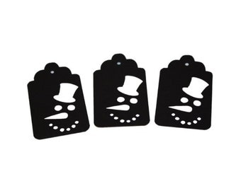 Snowman Face Gift Tags