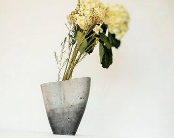 Modern Flower Vase:  Kevlar Reinforced, Handmade/ Fresh Flower Vase