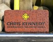 Volunteer Fireman Gift, Firefighter EMT Paramedic Gift, Fire Service Award, Firefighter Auxiliary, Firefighter Captain, Engraved Brick Alt