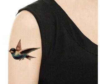 Temporary Tattoo - Vintage Birds - Various Sizes