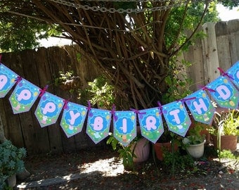 Peppa Pig Birthday Banner, Peppa Pig party, Peppa Pig decorations
