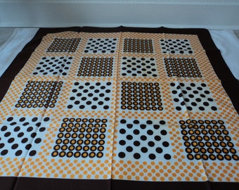 REDUCED - French vintage decorative scarf (01310)