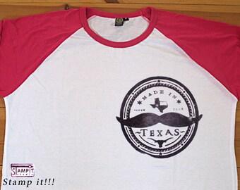 Raglan Shirt Made in Texas  - Baseball shirt, Woman t shirt, Man t shirt, Girl's  shirt, Kids shirt, Texas, clothing, Baseball tee,  t shirt