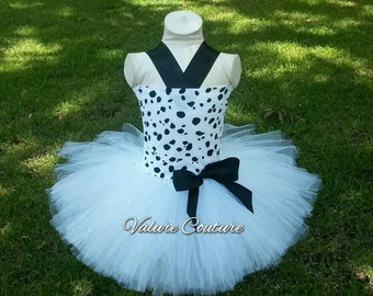 101 Dalmatians Inspired Tutu Dress      Facebook.com/ValureCouture     Pinterest.com/ValureCouture     ValureCouture.Etsy.com