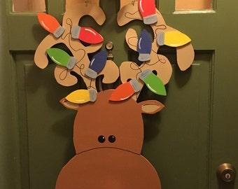 Ready to Ship Reindeer Door Hanger