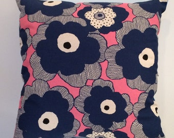Blue & Pink Flowers Cushion