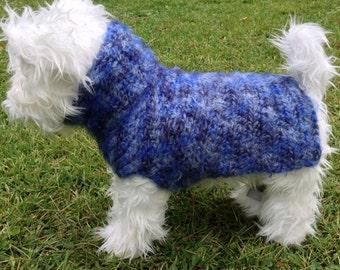 Diaphanous Angel Hair Wool Dog Sweater, Knit Dog Sweater, small dog sweater, dog sweaters, dog sweater, blue dog coats, blue dog sweater