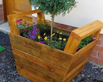 Planter, planters, rustic planter, outdoor planter,indoor planter,raised planter,entryway planter,corner planter