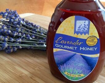 Lavender Gourmet Honey, Flavored Honey, Infused Honey, Natural Honey