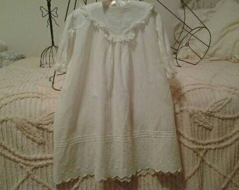 Shabby Vintage Baby Gown