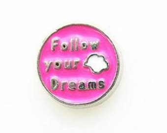 follow your dreams floating charm