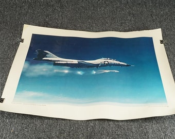 U.S. Govt Printing Office U.S.A.F. F-101 Voo Doo Launches Genie Missile C.1968