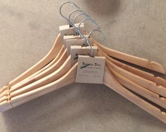 Bamboo Clothes Hangers 5/Pack