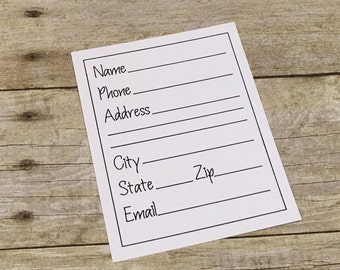 Address File Cards - Set of 25