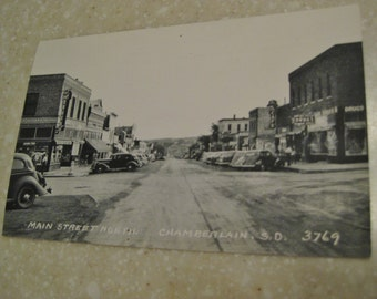 Vintage Photo post card 1940's  Chamberlain, S.D. 3769  Unused  B&W  **free shipping