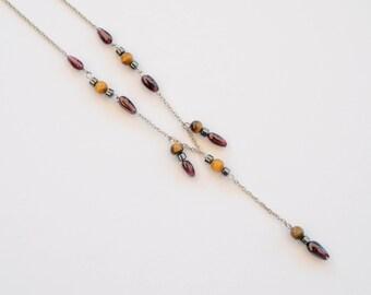 Lot of 10pcs Vintage Handmade Gemstone Necklaces