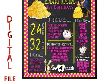 Beauty and the beast party, 1st birthday decorations, beauty and the beast birthday decorations, baby's first birthday ideas