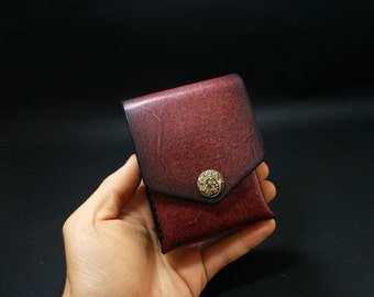 Cigarette Case Leather,Handmade Distressed Case, Gift for Him or alternative can be used as jumbo business/bank card holder